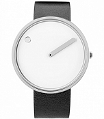 Picto Picto 40 mm White / Steel Leather фото 1