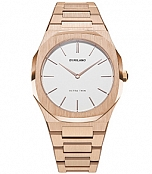D1 Milano ULTRA THIN LADIES ROSE GOLD/EGGSHELL UTBL02 фото 1